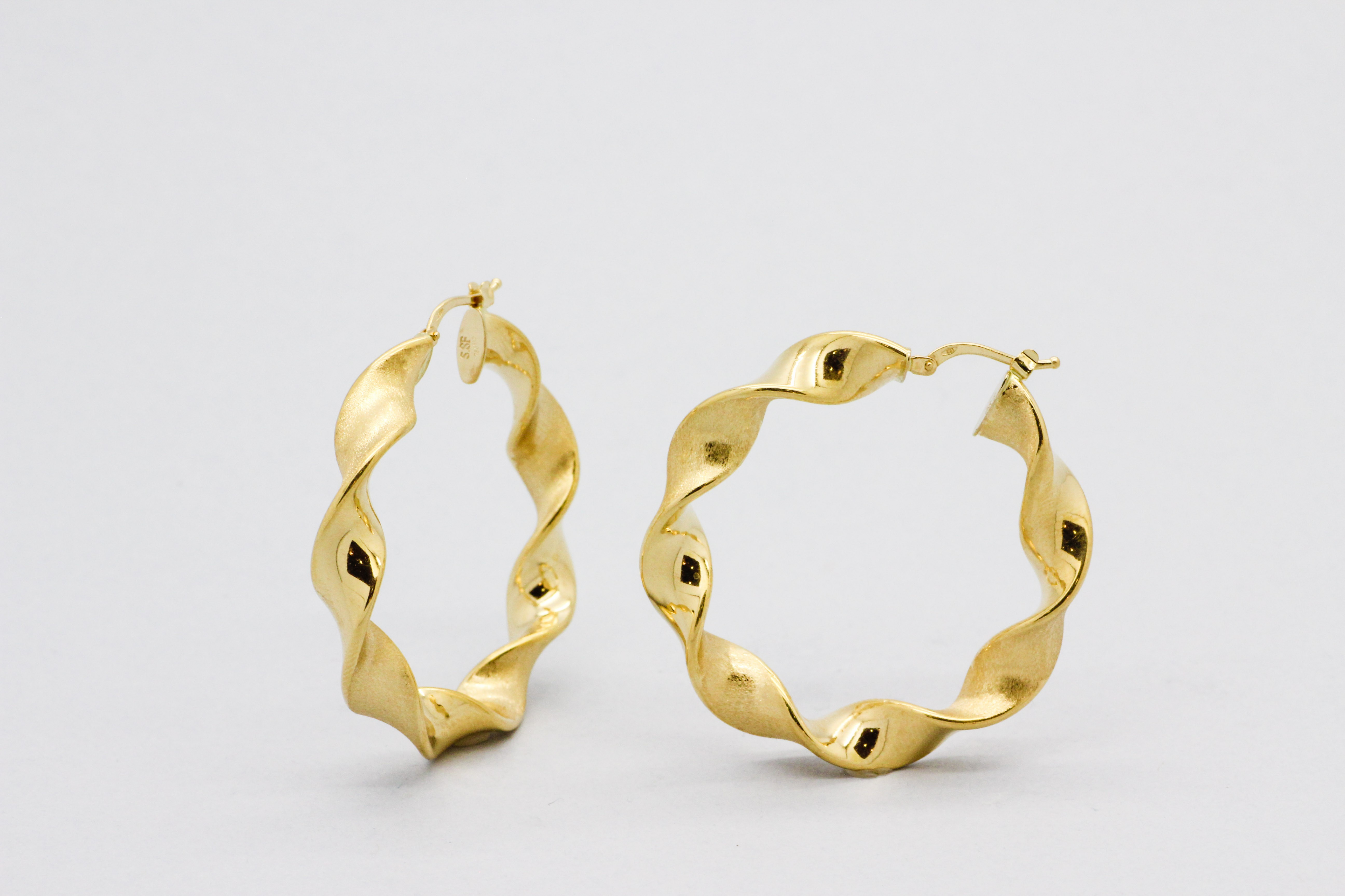 jewellery round with roberto p yellow hoop gold symphony coin earrings design