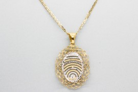 18Kt White & Yellow Gold Pendant