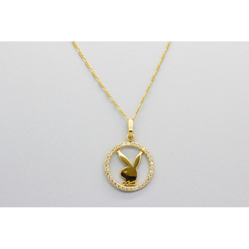 18kt Yellow Gold Quot Playboy Quot Pendant