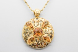18Kt Yellow Gold Citrine Pendant