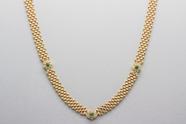 18Kt Yellow Gold Gemstone Necklace
