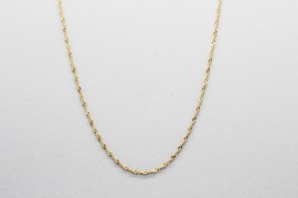 18Kt Yellow Gold Singapore Chain - 50cm