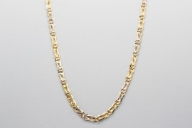 18Kt White & Yellow Gold Chain - 50cm