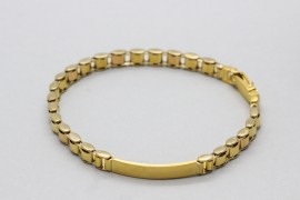 18Kt Yellow Gold Men's ID Bracelet