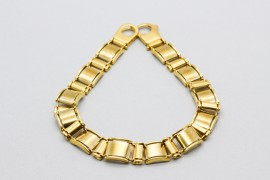 18Kt Yellow Gold Men's Box Link Bracelet