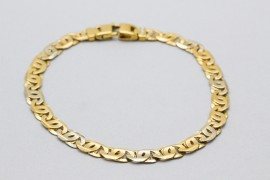 18Kt Yellow Gold Men's Mariner Bracelet