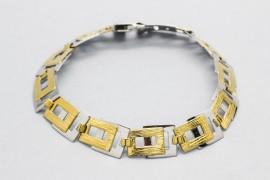 18Kt White and Yellow Gold Bracelet