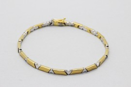 18Kt White & Yellow Gold Bracelet