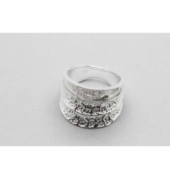 Three Band Sterling Silver Ring