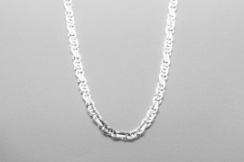 Sterling Silver Figaro Mariner Chain - 50cm