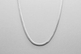 Sterling Silver Spiga Chain Measuring 45cm
