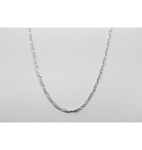 Sterling Silver Figaro Chain - 52cm