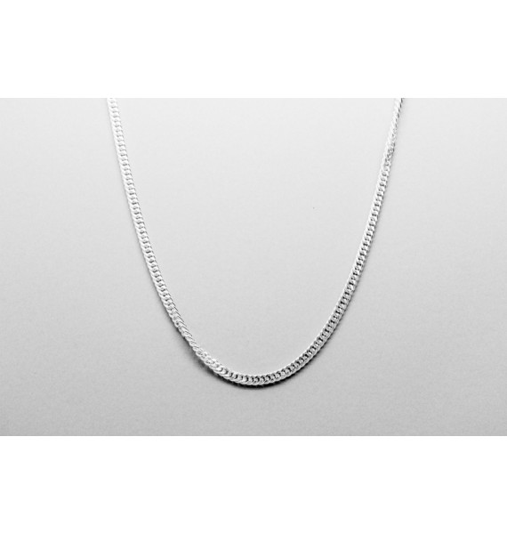 Sterling Silver Curb Chain - 50cm