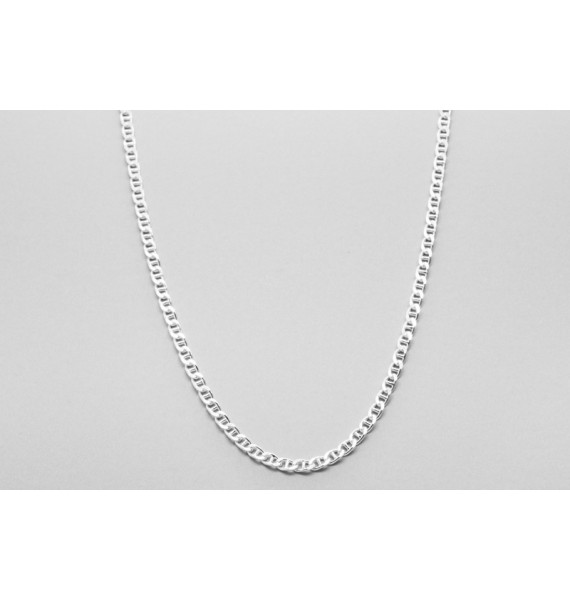 Sterling Silver Mariner Chain - 56cm