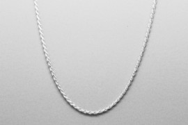 Sterling Silver Rope Chain - 44.5cm