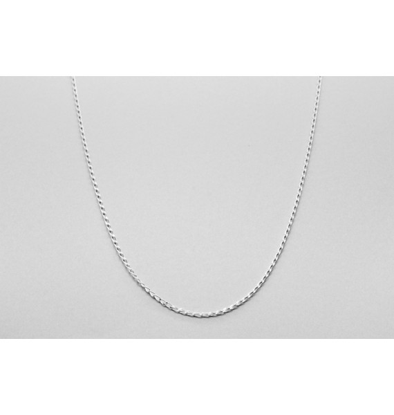 Sterling Silver Oval Link Chain - 60cm