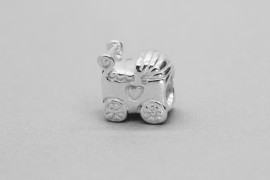 Sterling Silver Pandora Baby Carriage Charm