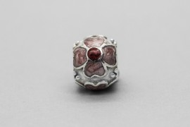 Pandora Daisy Red Enamel Charm in Sterling Silver