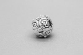Sterling Silver Charm with a Spiral Design