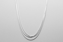 Three Chain Sterling Silver Necklace