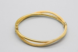 18Kt Yellow Gold Double Bangle
