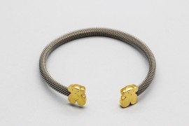 "18Kt Yellow Gold & Steel ""Teddy Bear"" Bangle"