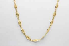 18Kt Yellow Gold Rolo Link Necklace Measuring 45cm