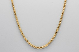 18Kt Yellow Gold Rope Chain Measuring 50cm