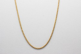 18Kt Yellow Gold Rope Chain Measuring 40cm