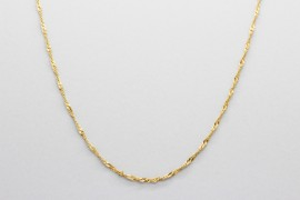 18Kt Yellow Gold Singapore Chain Measuring 41cm