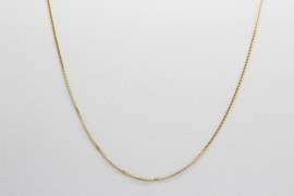 18Kt Yellow Gold Curb Link Chain Measuring 50cm