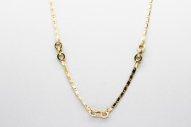 18Kt Yellow Gold Belcher & Mariner Necklace