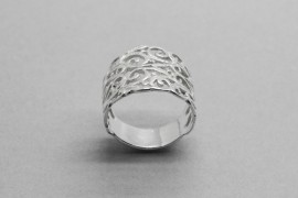 Sterling Silver Ring with a Filigree Design