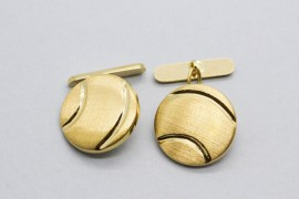 18Kt Yellow Gold Cufflinks with a Matte Finish