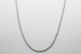 18kt White Gold Ball Link Chain - 45cm