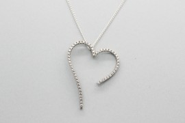 18kt White Gold Heart Pendant