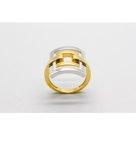18kt White & Yellow Gold Ring
