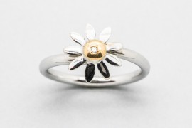18kt White & Yellow Gold Diamond Ring