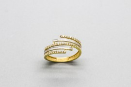 18kt White & Yellow Gold Zirconia Ring