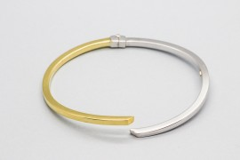18kt White & Yellow Gold Bangle