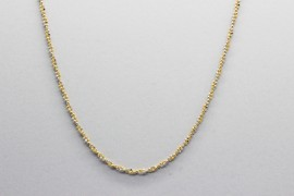 18kt White & Yellow Gold Bead Chain