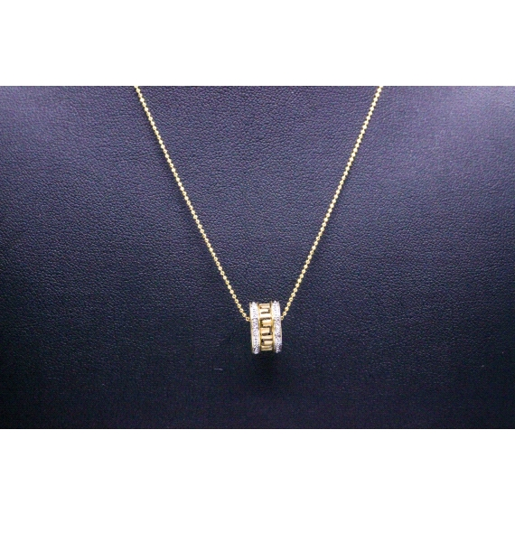 18kt White & Yellow Gold Necklace