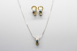 18kt White & Yellow Gold Gemstone Set