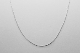 Sterling Silver Curb Link Chain - 46.5cm