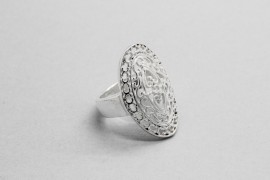925 Sterling Silver Oval Ring