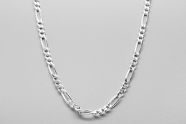 Sterling Silver Figaro Chain - 63cm