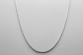 Sterling Silver Rope Link Chain - 61cm
