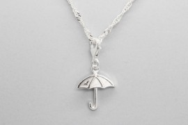 925 Sterling Silver Umbrella Pendant